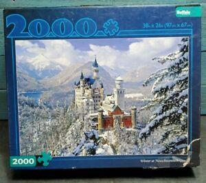 Buffalo Games Winter At Neuschwanstein Castle 2000 Piece Jigsaw Puzzle FREE SHIP