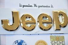 24K Gold Plated Jeep Grand Cherokee Wrangler Badge  4 X 4 Front Rear Car Badge