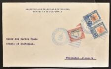 GUATEMALA 1922 Foreign Minister Cover to Consul de Guatemala in Germany LOOK