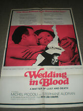 WEDDING IN BLOOD - ORIGINAL FOLDED POSTER - CLAUDE CHABROL - 1973
