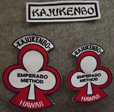 LOT OF 3 KAJUKENBO HAWAII MARTIAL ARTS PATCHES - WHITE BACKGROUND
