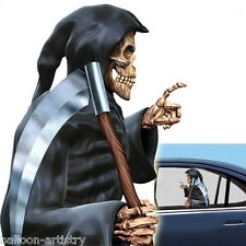 Halloween GRIM REAPER Car Window Cling Decoration