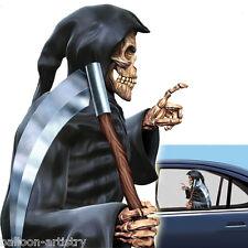 Halloween GRIM REAPER Car Window Cling Decoration