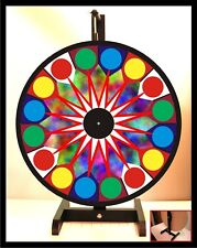 """Prize Wheel 18"""" Spinning Tabletop Portable Tie Dye"""