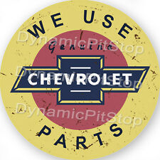 60cm Chevrolet Round Rustic Tin Sign