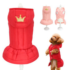 Dog Princess Dress Girl Dog Puppy Skirts Winter Coat Warm French Bulldog Clothes