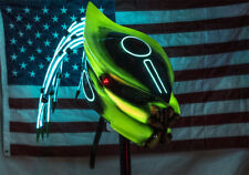 predator motorcycle helmet fiber optic dreadlocks glownmdarkv5