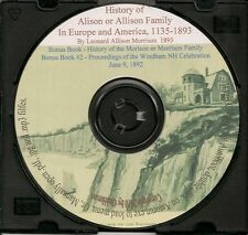 History of the Alison or Allison Family - In Europe and America 1135 to 1890