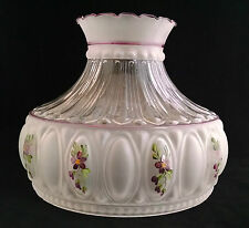 USA MADE M752 STYLE AMETHYST FLORAL LAMP SHADE fits ALADDIN B&H MILLER RAYO