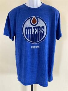 New Edmonton Oilers Mens Size L Large Blue CCM Shirt