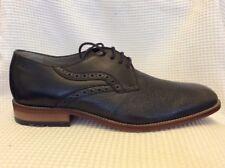 NUOVO CLARKS Penton Walk grano in pelle CALATA Men's Shoes Nero TAGLIA 9 due toni