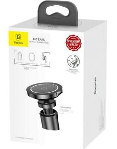 Baseus Wireless Car Charger Phone Holder for iPhone Samsung Mount Mobile Stand
