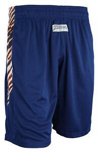 Zubaz NFL Men's Chicago Bears Team Logo Zebra Side Seam Shorts, Navy
