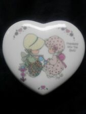 Precious Moments ~ Friendship Hits The Spot Porcelain Heart Shaped Box Valentine