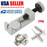 All Metal Adjustable Watch Band Strap Bracelet Link Pin Remover Repair Tool Kit