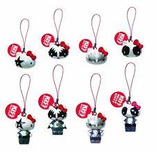 Kiss Hello Kitty Danglers Llavero Encanto Del Teléfono Gacha 2 establece 4 Cabezas + 4 Cuerpo Completo