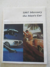 Original 1967 Ford Mercury Cougar Comet 202 Marquis Brougham advertising booklet