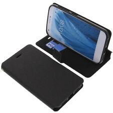 étui pour ZTE Blade a512 style Livre Etui Housse téléphone mobile Noir