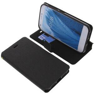 Tasche für ZTE Blade A512 Book-Style Schutz Hülle Handytasche Buch Schwarz