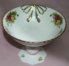 ROYAL ALBERT Old Country Roses 1962 Serving Bowl Pedestal  Signed & Original Box