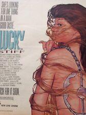 ephemera Advert Film Lucky Stiff Donna Dixon 1988