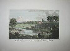 LÜBECK. Seltener kolorierter Kupferstich von RADL, 1822