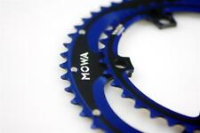 MOWA Double Anodized Chainring Set for Road 53-39T Blue