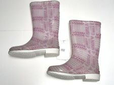 ARMANI New Girls Kids LOGO CLEAR RAIN BOOTS SZ 35 Eu / 3 US RTL: $130 R3549 O123