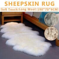 190*70CM Faux Fur Sheepskin Rug Fluffy Mat Pad Room Sofa Bed Shaggy Floor Carpet