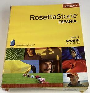Rosetta Stone Spanish Espanol Level 1 CD Learning Kit for Windows MAC Version 3