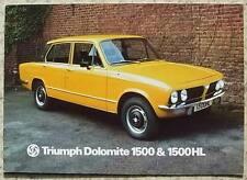 TRIUMPH DOLOMITE 1500 & 1500 HL Car Sales Brochure 1977 #3229A