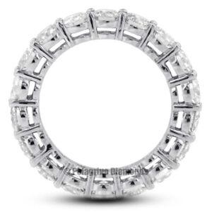 3 Carat G VS2 Round Cut Earth Mined Certified Diamonds Platinum Eternity Ring