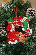 Personalizado De Árbol De Navidad Decoración Ornamento esperando Santa