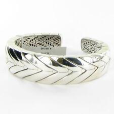 John Hardy Modern Chain Sterling Kick Cuff Bracelet 925 Silver NWT $1195