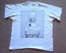 HOMER SIMPSON Couch Potato Extra Large T-shirt, BACK PRINT, 100% cotton, XL,1995