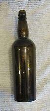 "Antique Green Glass 12"" Tall Bottle Bitters Liquor FREE S/H"