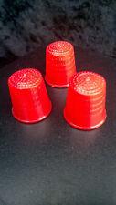 Set de 3 dés à coudre en magie de couleur rouge (style Jo Mogar)