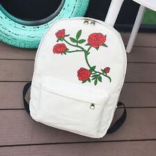 Womens Girls Canvas Backpack Rucksack College Travel Shoulder School Bag Satchel