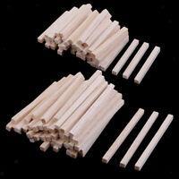 100 Stück Quadratische Holzstäbe Holzstäbchen Holzstab Bastelhölzer für DIY