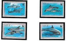 NIUE Sc 651-4 NH issue of 1992 - WWF - SEA LIFE - DELPHINES