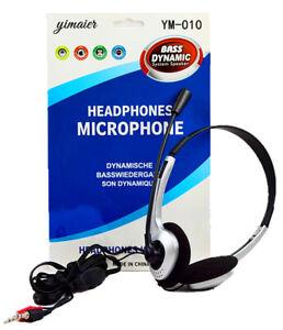 Cascos con Microfono Auriculares con Micro para Ordenador PC Portatil