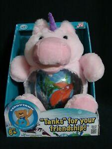 As Seen on TV Teddytank Plush Unicorn Fish Tank Coin Bank NEW