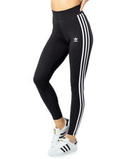 Tight Adidas Adicolor 3 Stripes Nero Leggings Slim Strisce Vita Media Elastico
