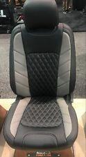 2015 2018 Ford F 150 Supercrew Katzkin Tekstitch Leather Seat Covers Black Stone