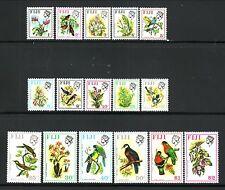 Fiji--#305-20 MNH--1971-72 Birds & Flowers