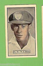 1936-1937 ALLEN'S CRICKET CARDS #10  W. A. BROWN