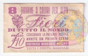 FIORI DI TUTTO IL MONDO 1951 Didasco italy cards envelope - bustina figurine