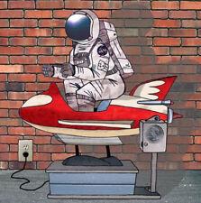 """Astronaut Kiddie Ride Punk Rocket Space Hipster Art Cool 3"""" Sticker"""