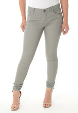 Ladies Ex Dorothy Perkins Stone-Grey Floral Embroidered Women Super Skinny Jeans
