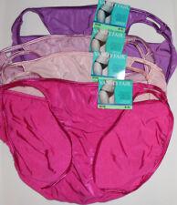 4 Vanity Fair Bikini Nylon Illumination Panty Set 8 XL 18108 Purple Pink NWT